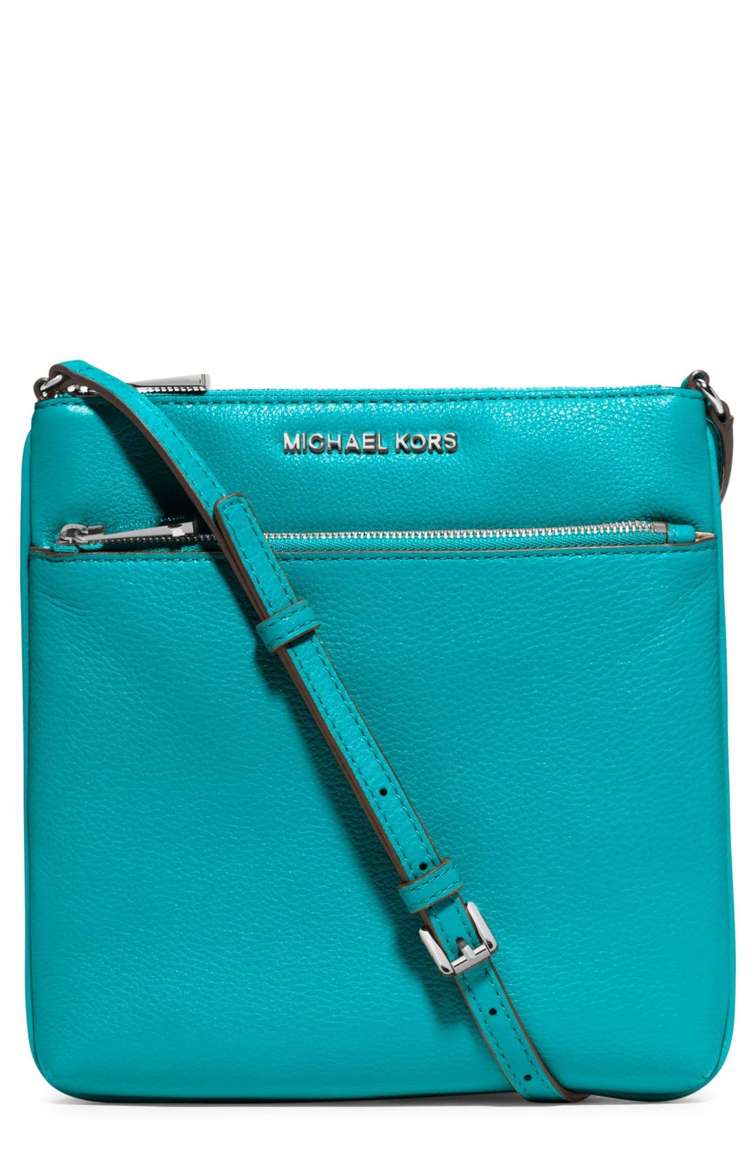 Alternate Image 1 Selected - MICHAEL Michael Kors 'Small Riley' Leather Crossbody Bag