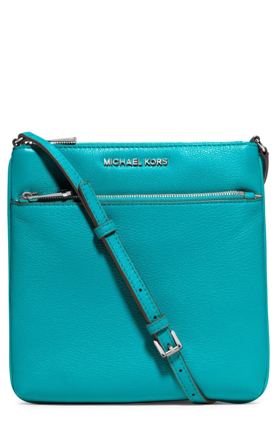 Main Image - MICHAEL Michael Kors 'Small Riley' Leather Crossbody Bag