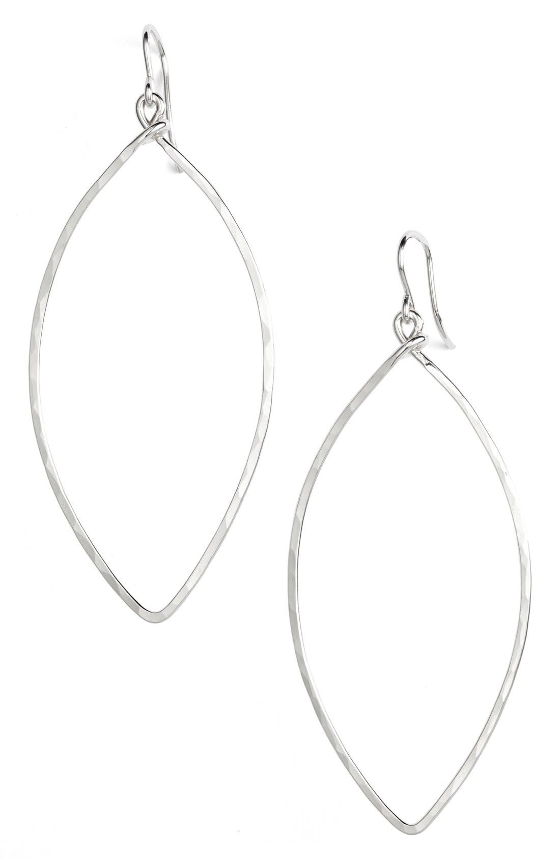 Ija Sterling Silver Oblong Hoop Earrings