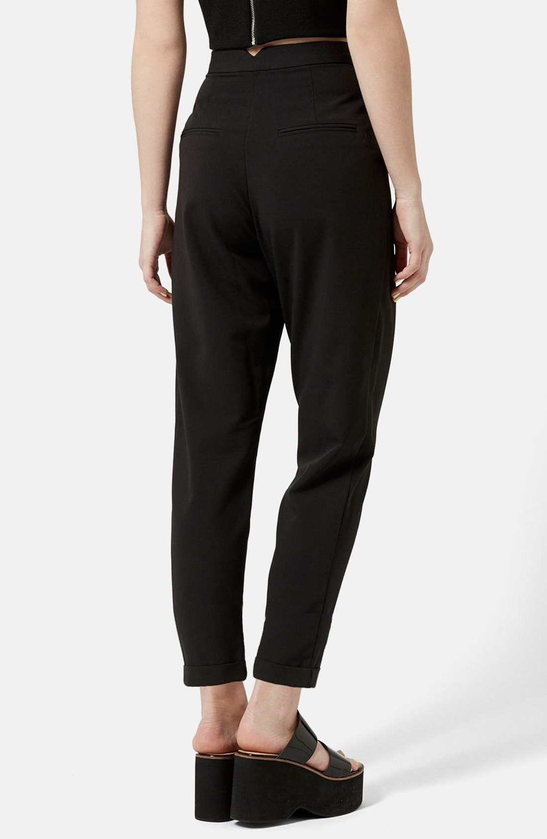 Alternate Image 2  - Topshop Notch Back Tapered Trousers