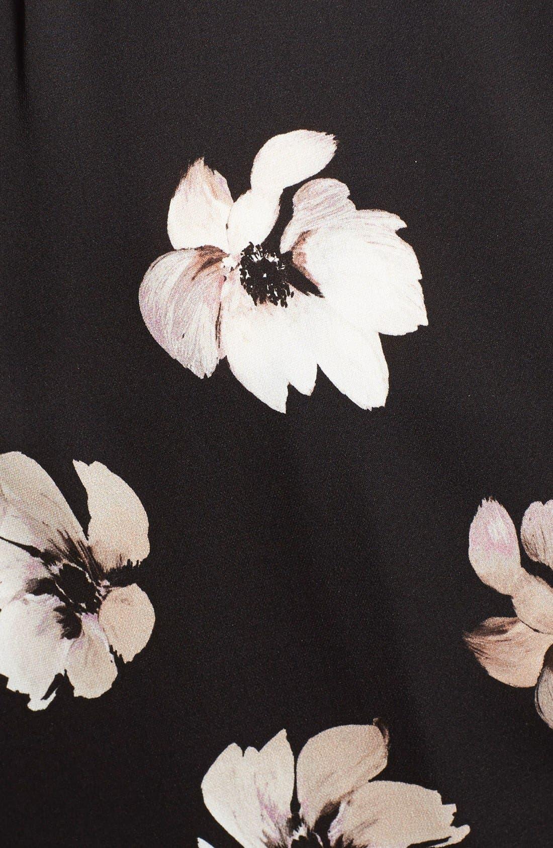 Alternate Image 3  - Nordstrom Signature and Caroline Issa Floral Print Silk Twill Blazer