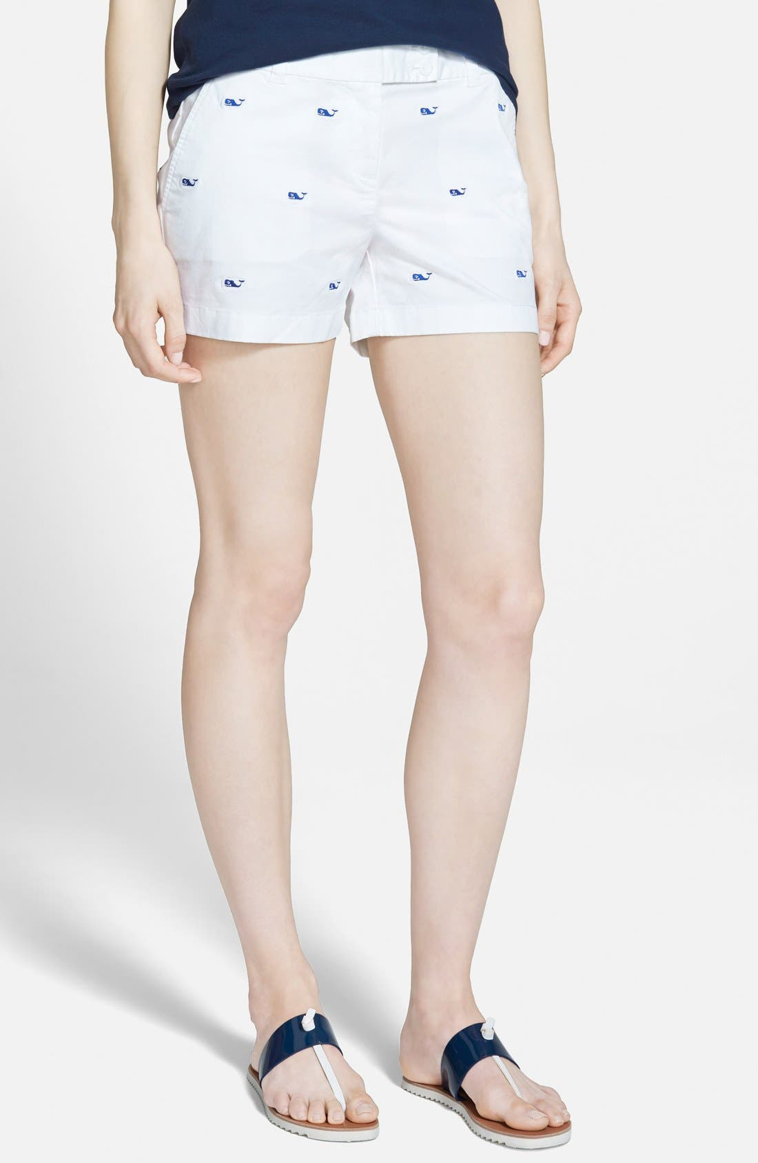 Main Image - Vineyard Vines 'Dayboat' Embroidered Shorts
