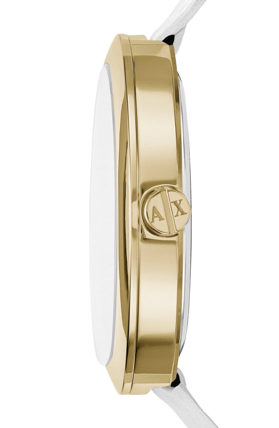 Alternate Image 2  - AX Armani Exchange Crystal Index Logo Dial Watch, 40mm