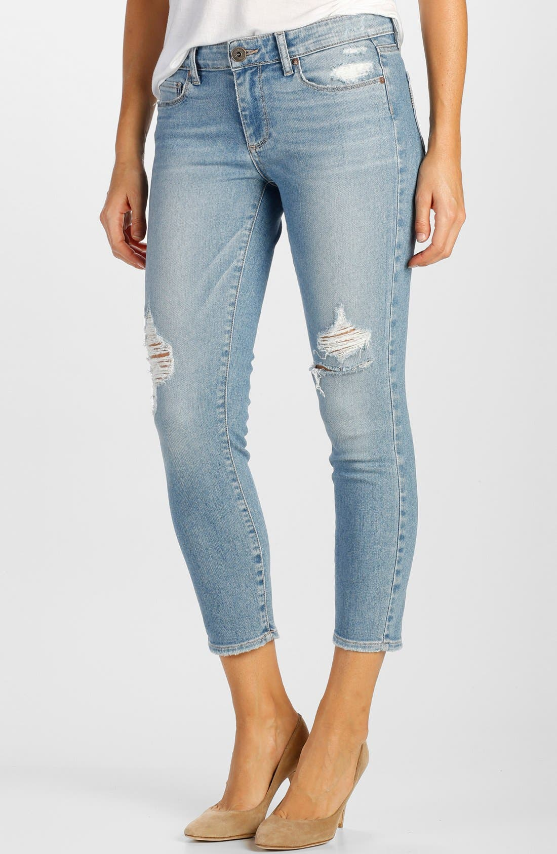 Alternate Image 1 Selected - Paige Denim 'Verdugo' Crop Skinny Jeans (Serena Destructed)