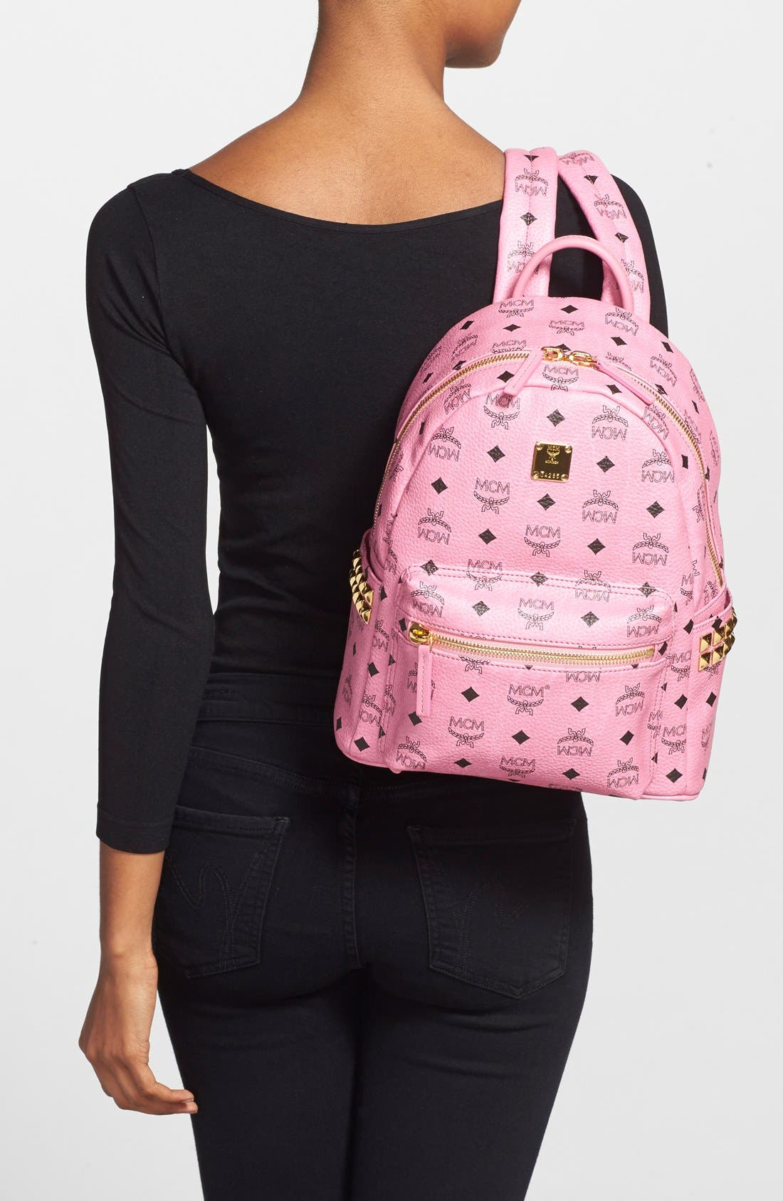 Alternate Image 2  - MCM 'Small Stark' Side Stud Backpack