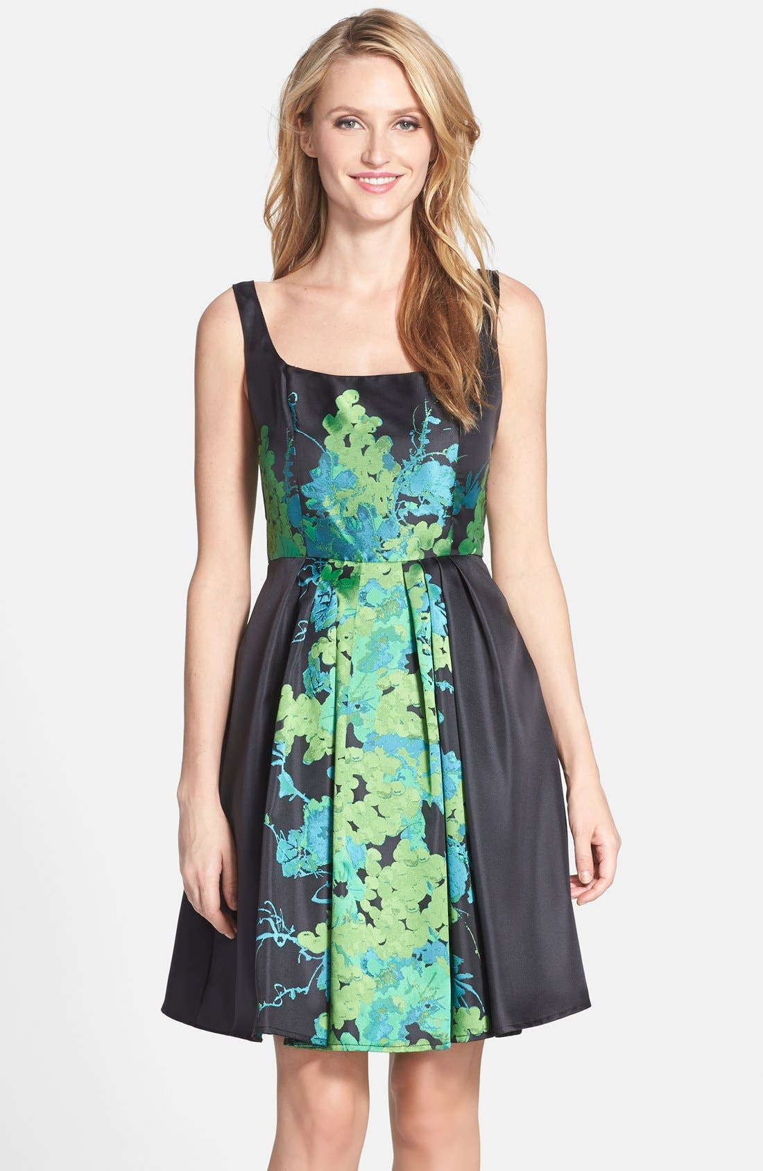 Main Image - Eva by Eva Franco 'Betty' Floral Print Fit & Flare Dress
