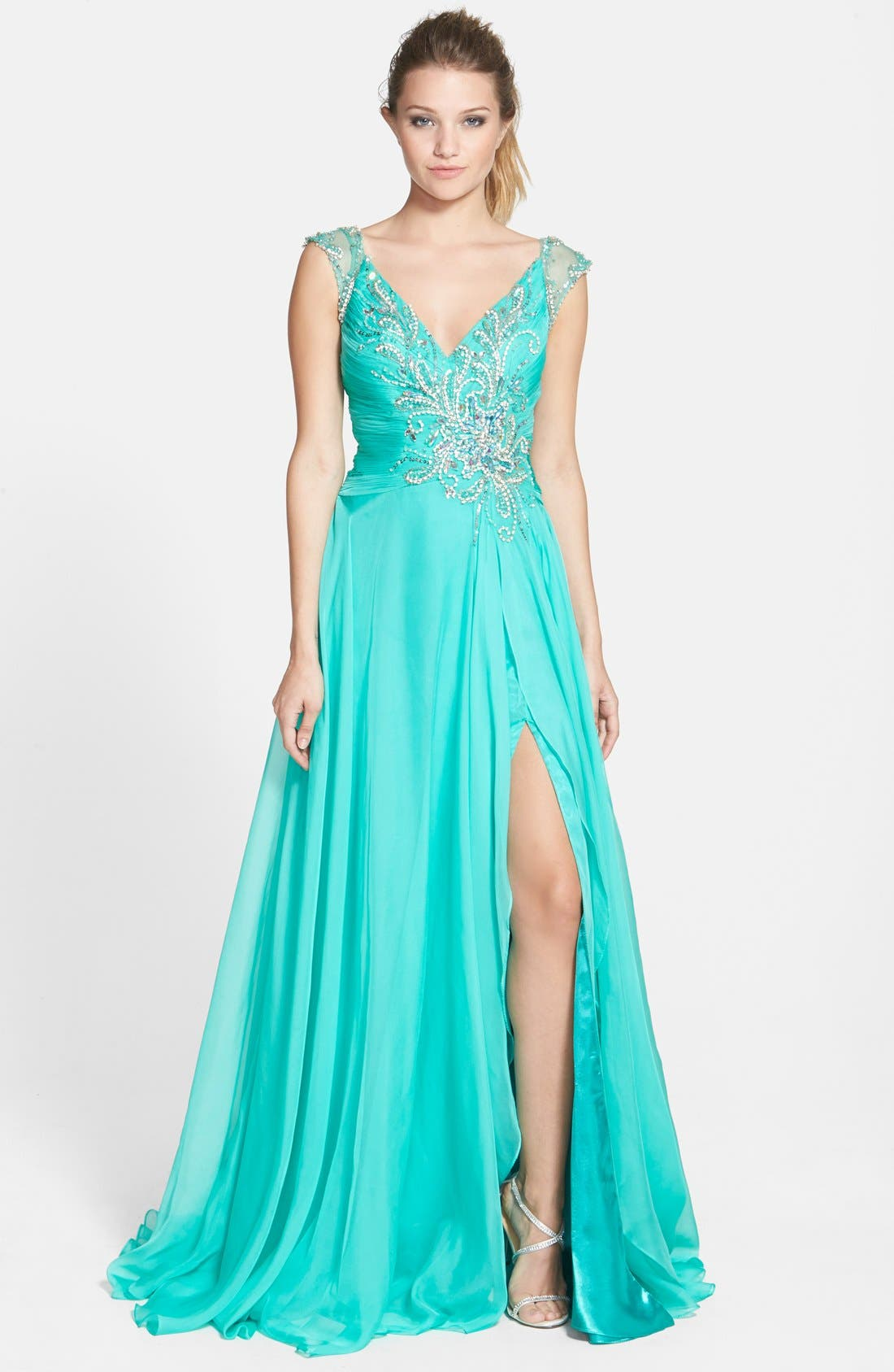 Alternate Image 1 Selected - Mac Duggal Embellished Gown