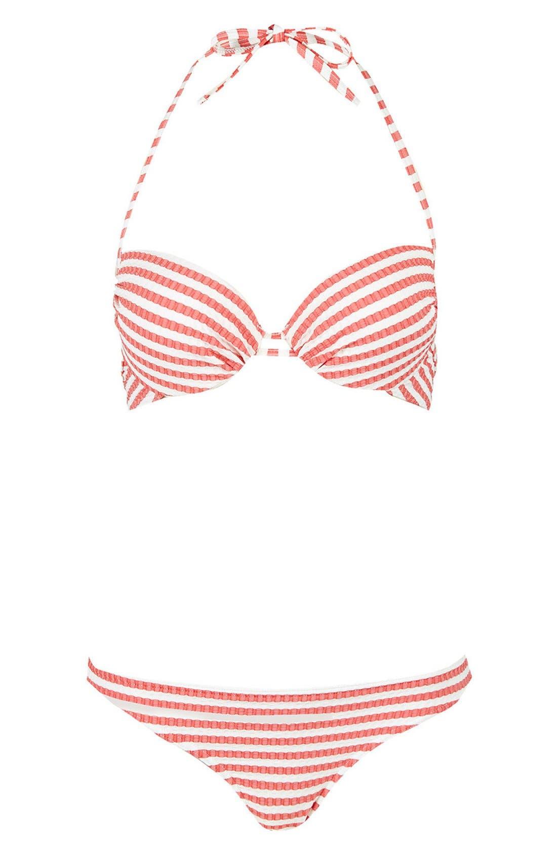 Alternate Image 3  - Topshop Seersucker Bikini