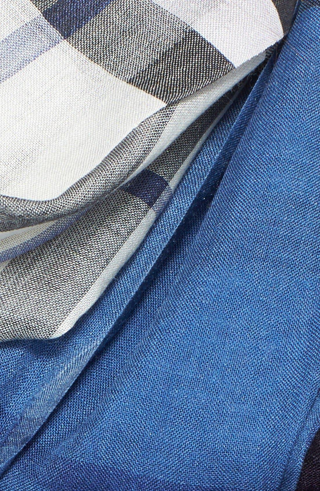Alternate Image 3  - Burberry Ombré Check Wool & Silk Scarf