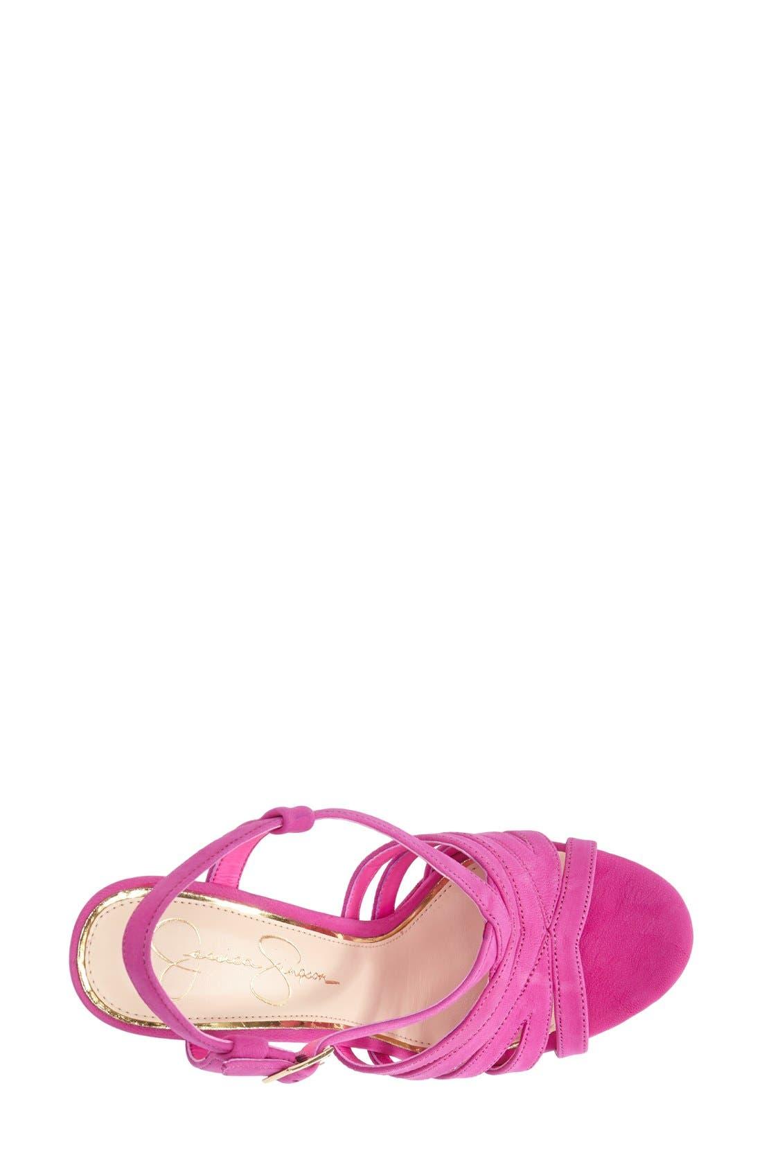 Alternate Image 3  - Jessica Simpson 'Peace' Suede Peep Toe Platform Sandal (Women)