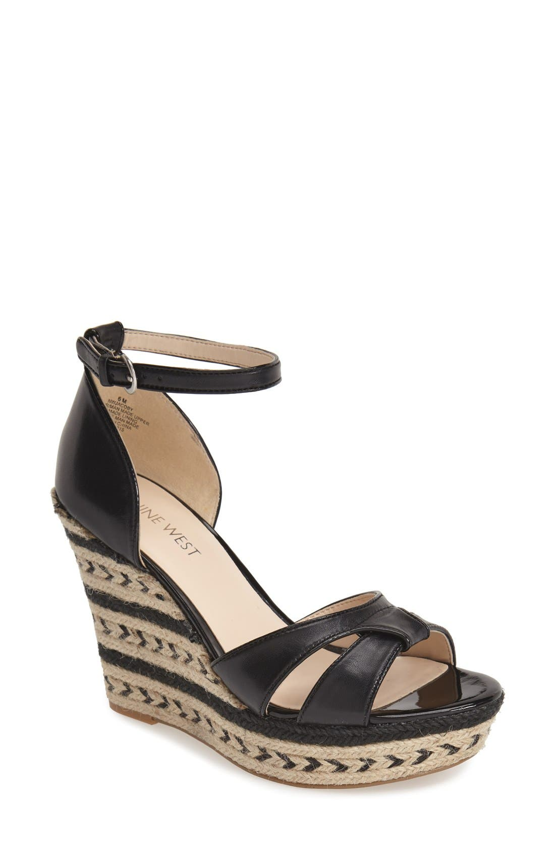 Alternate Image 1 Selected - Nine West 'Jacoby' Espadrille Wedge Sandal (Women)