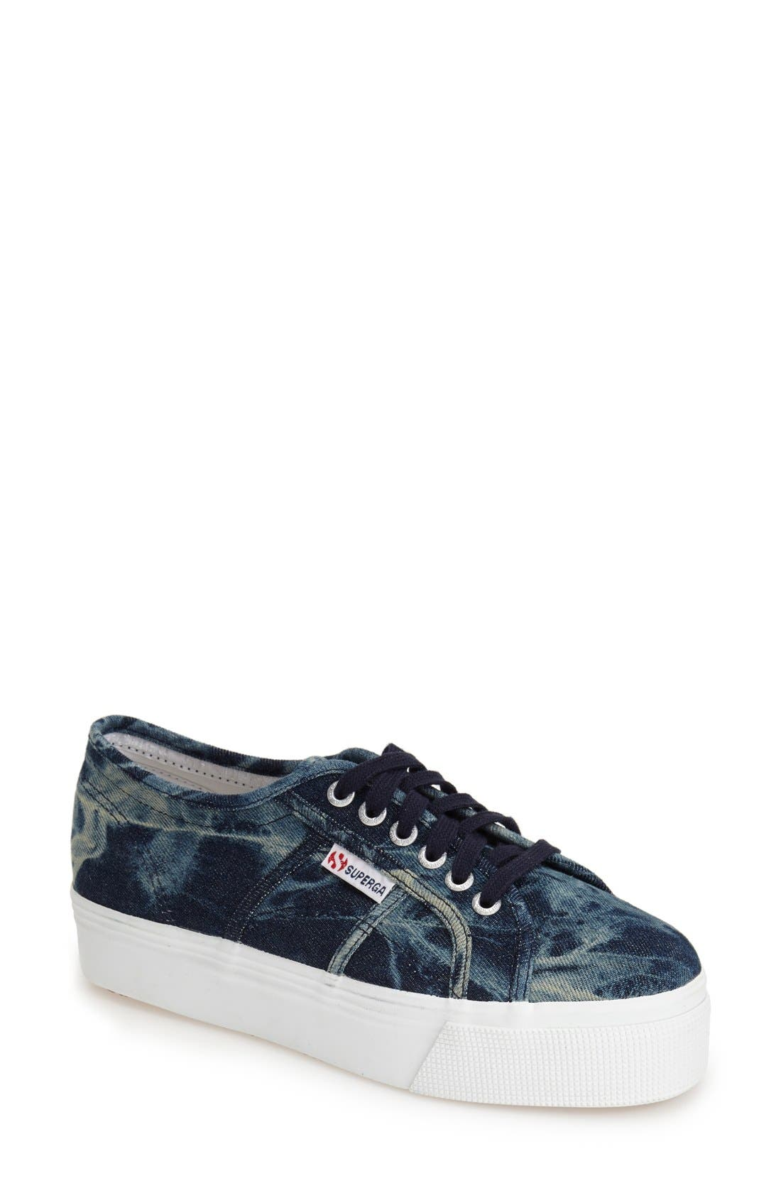 Alternate Image 1 Selected - Superga Tie Dye Platform Sneaker (Women)