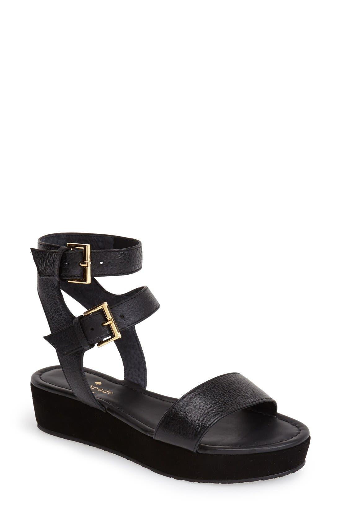 Main Image - kate spade new york 'troy' platform sandal (Women)