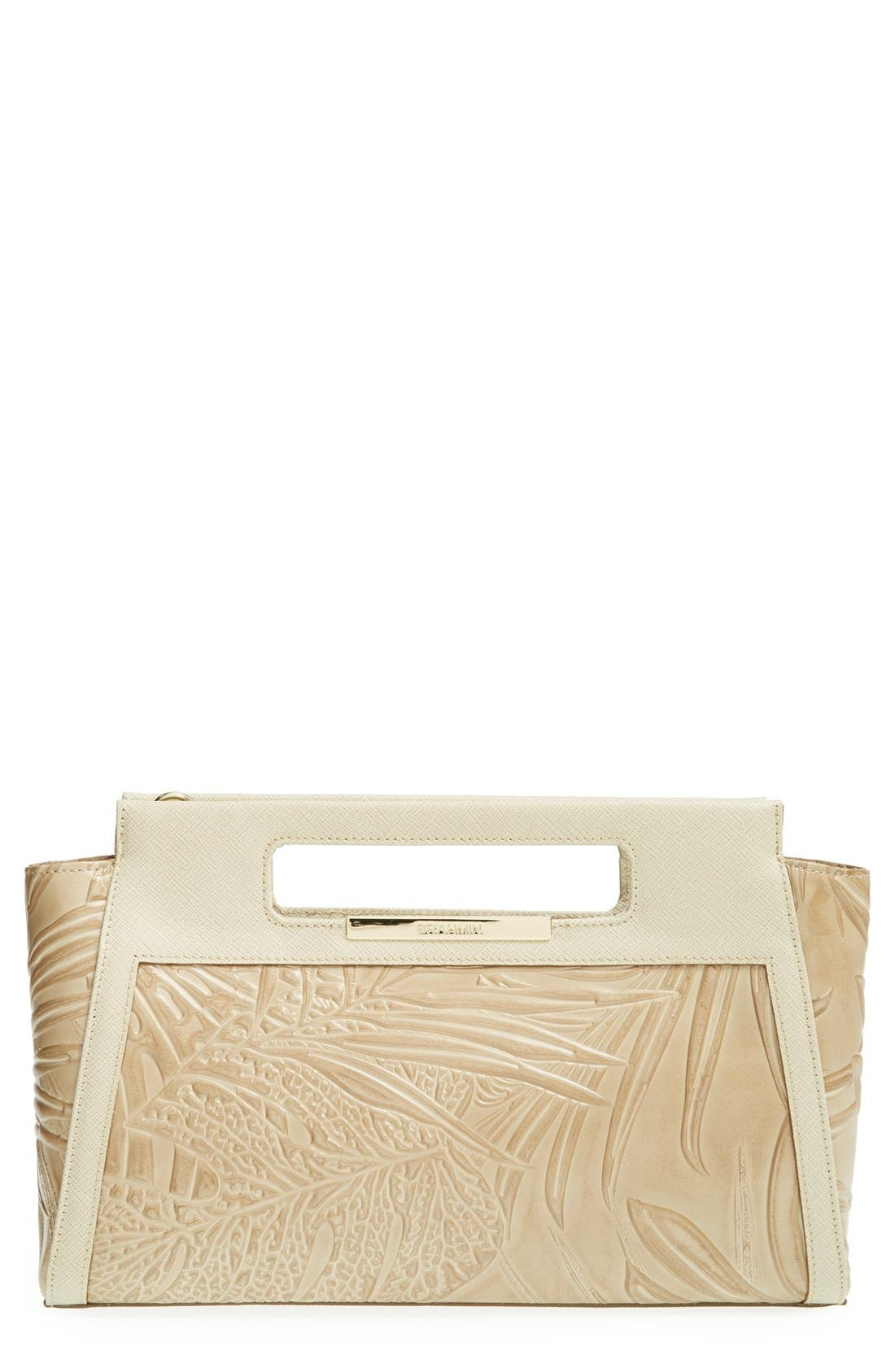 Main Image - Brahmin 'Lenox' Embossed Leather Clutch