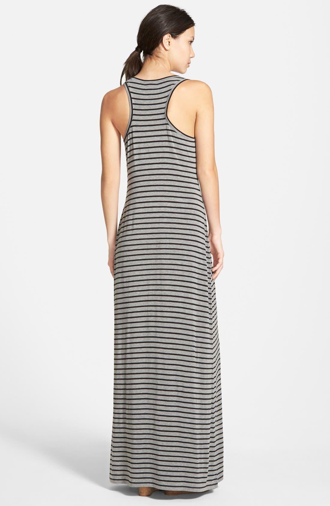 Alternate Image 2  - Caslon® Racerback Maxi Tank Dress (Regular & Petite)