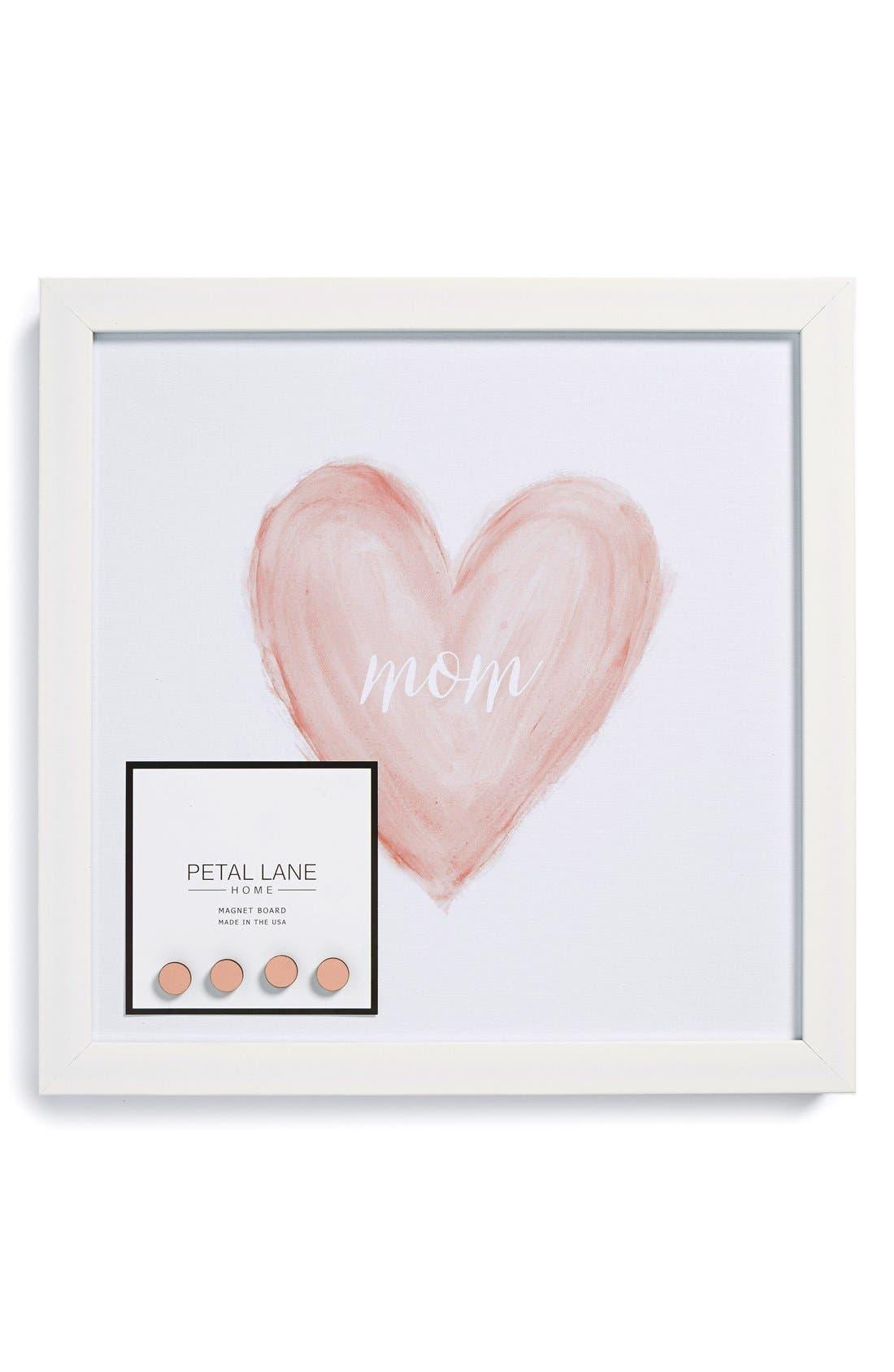 Main Image - Petal Lane 'Mom' Heart Watercolor Magnet Board