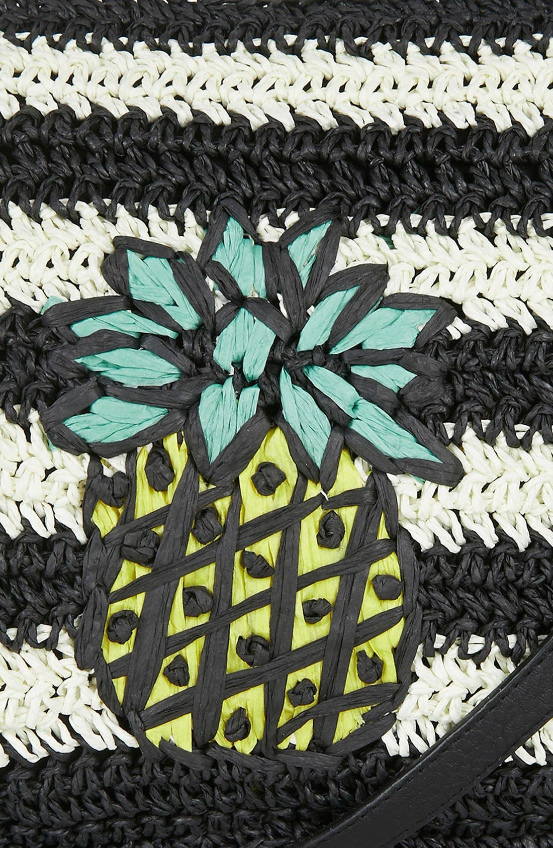 Alternate Image 4  - Topshop 'Pineapple' Woven Clutch