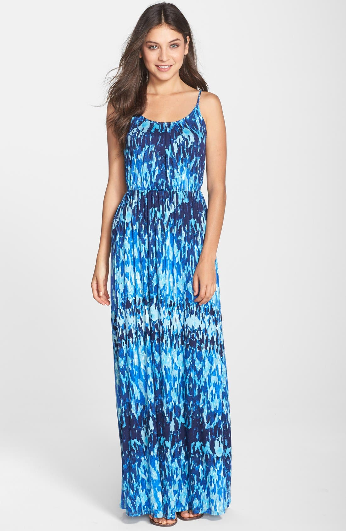 Alternate Image 1 Selected - Felicity & Coco 'Ezri' Print Maxi Dress (Regular & Petite) (Nordstrom Exclusive)
