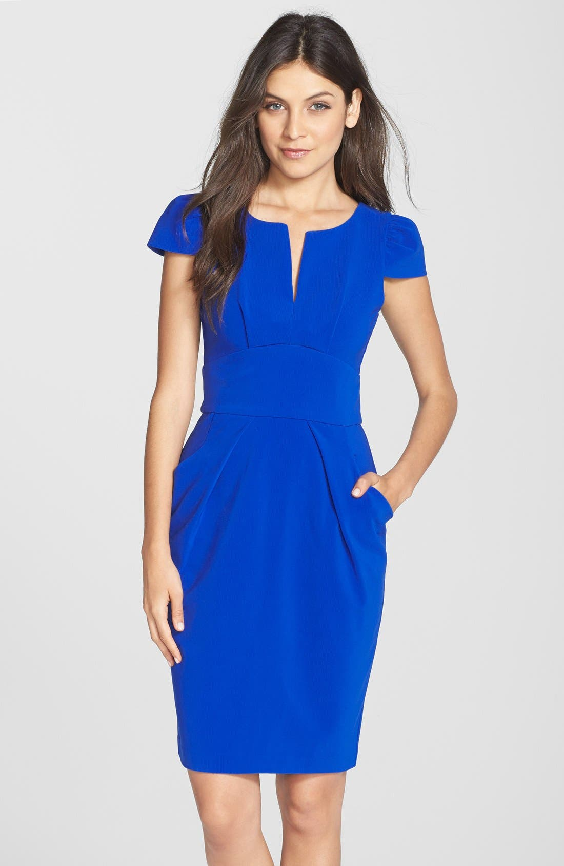 Main Image - Clove Split Neck Sheath Dress (Nordstrom Exclusive)