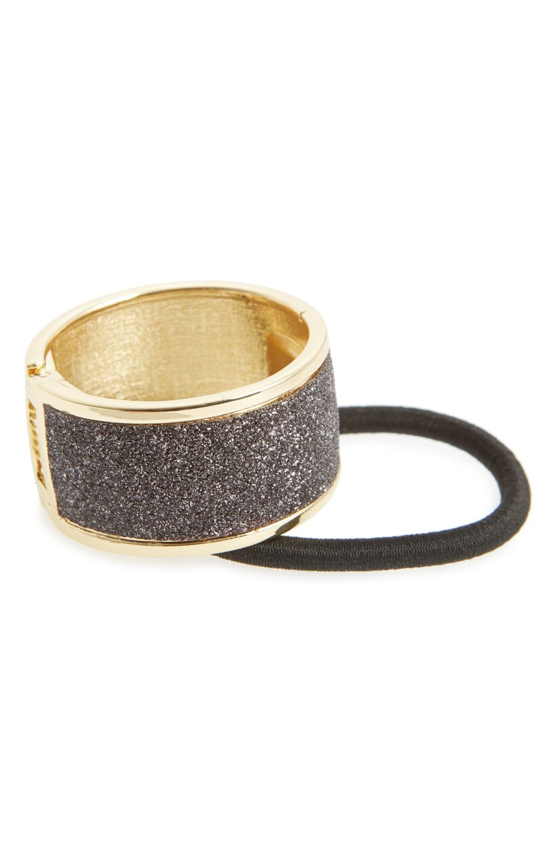 Alternate Image 1 Selected - L. Erickson Glitter Cuff Ponytail Holder