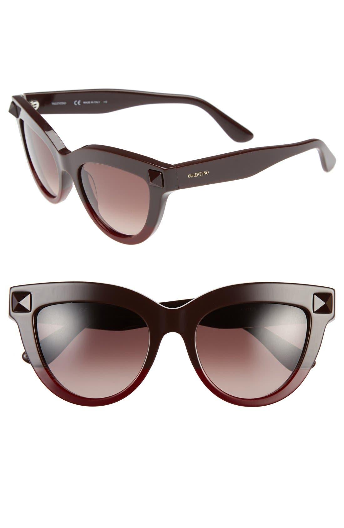 Alternate Image 1 Selected - Valentino 'Rockstud' 51mm Cat Eye Sunglasses