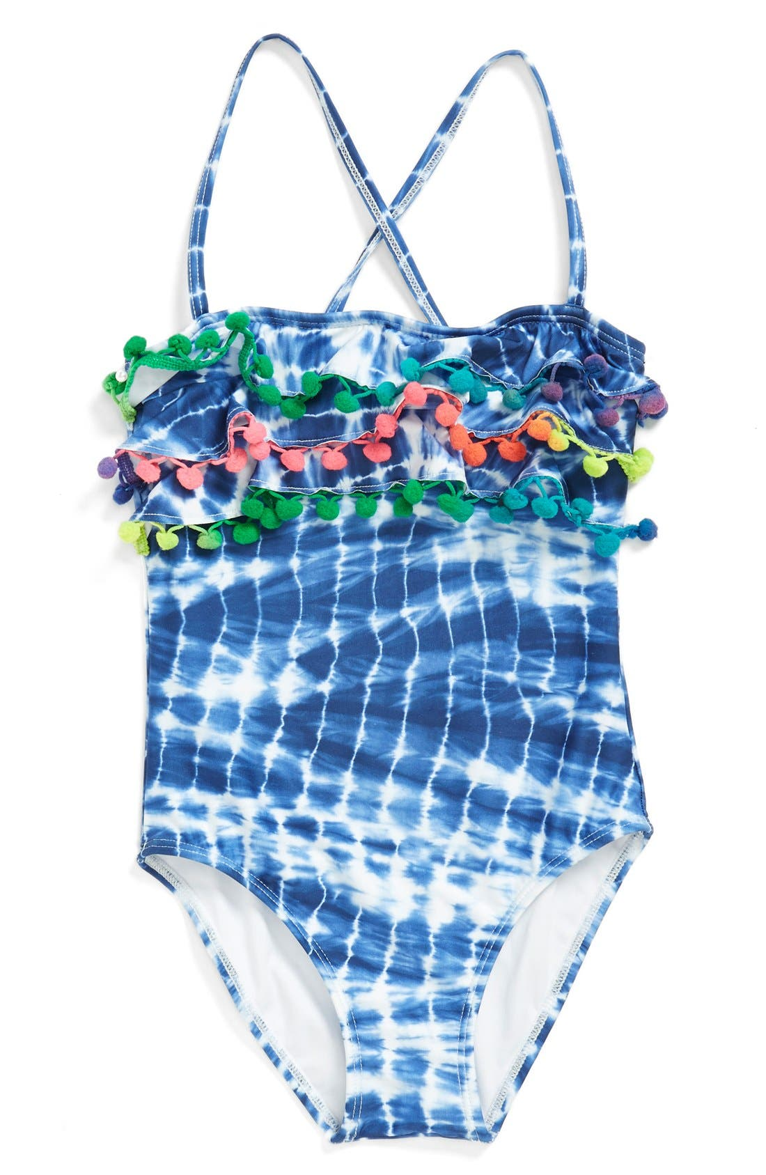 Alternate Image 1 Selected - PilyQ One-Piece Swimsuit (Toddler Girls) (Online Only)