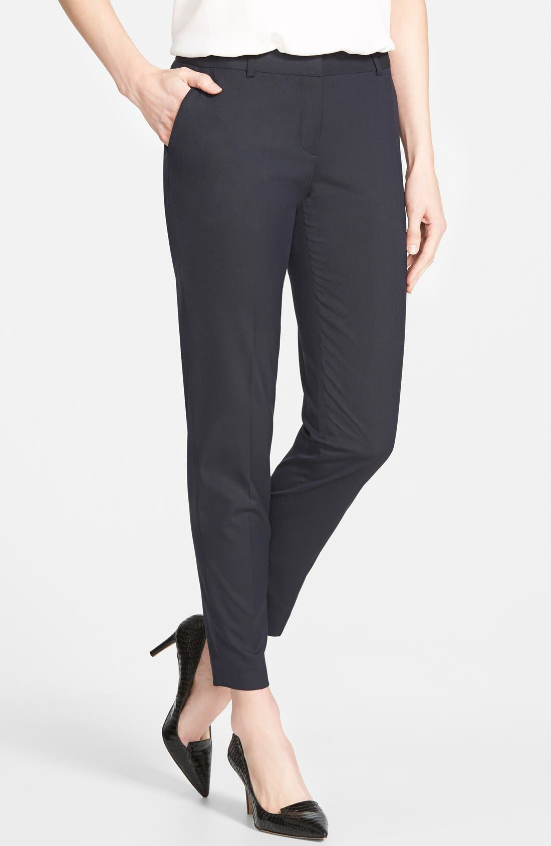 Alternate Image 1 Selected - Halogen® 'Taylor' Lapis Pattern Suit Pants (Regular & Petite)