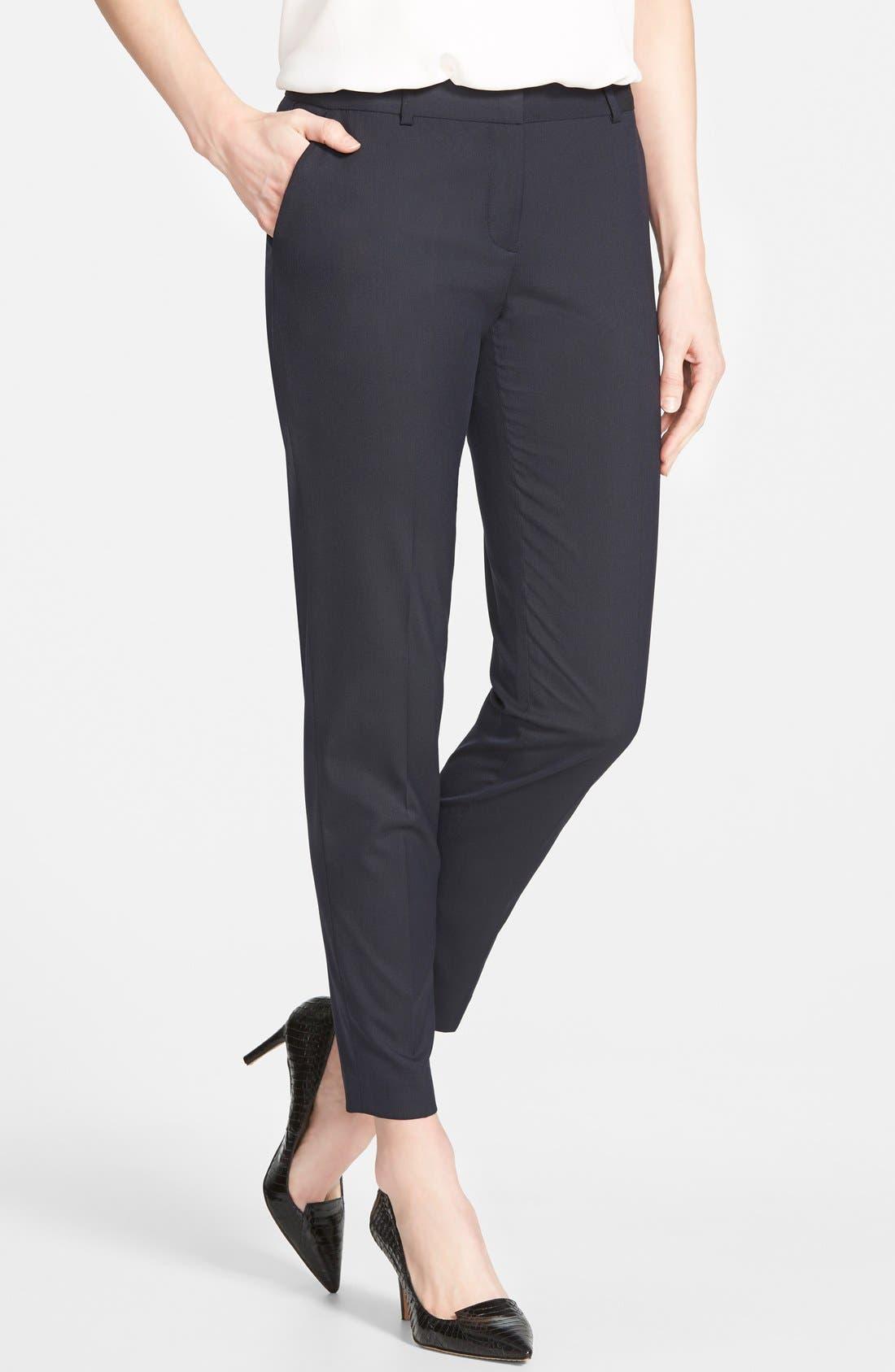 Main Image - Halogen® 'Taylor' Lapis Pattern Suit Pants (Regular & Petite)