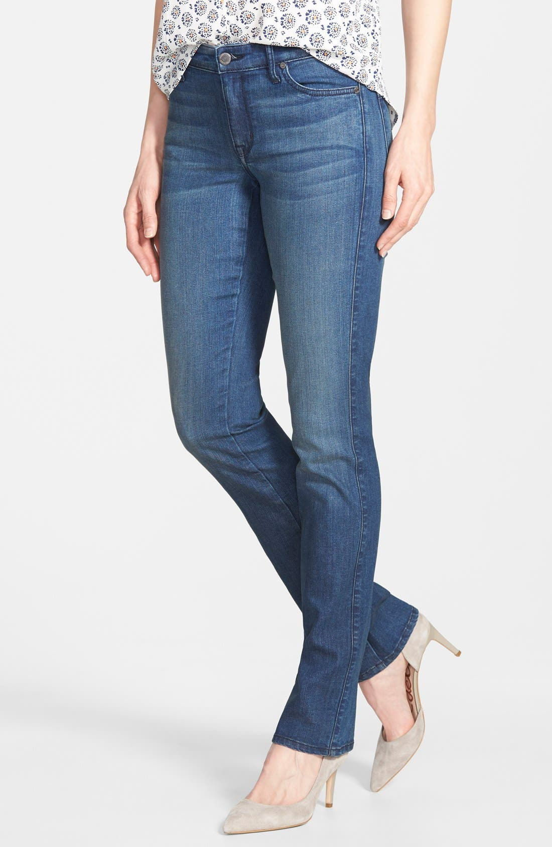 Main Image - CJ by Cookie Johnson 'Faith' Stretch Straight Leg Jeans (Dyson) (Online Only)