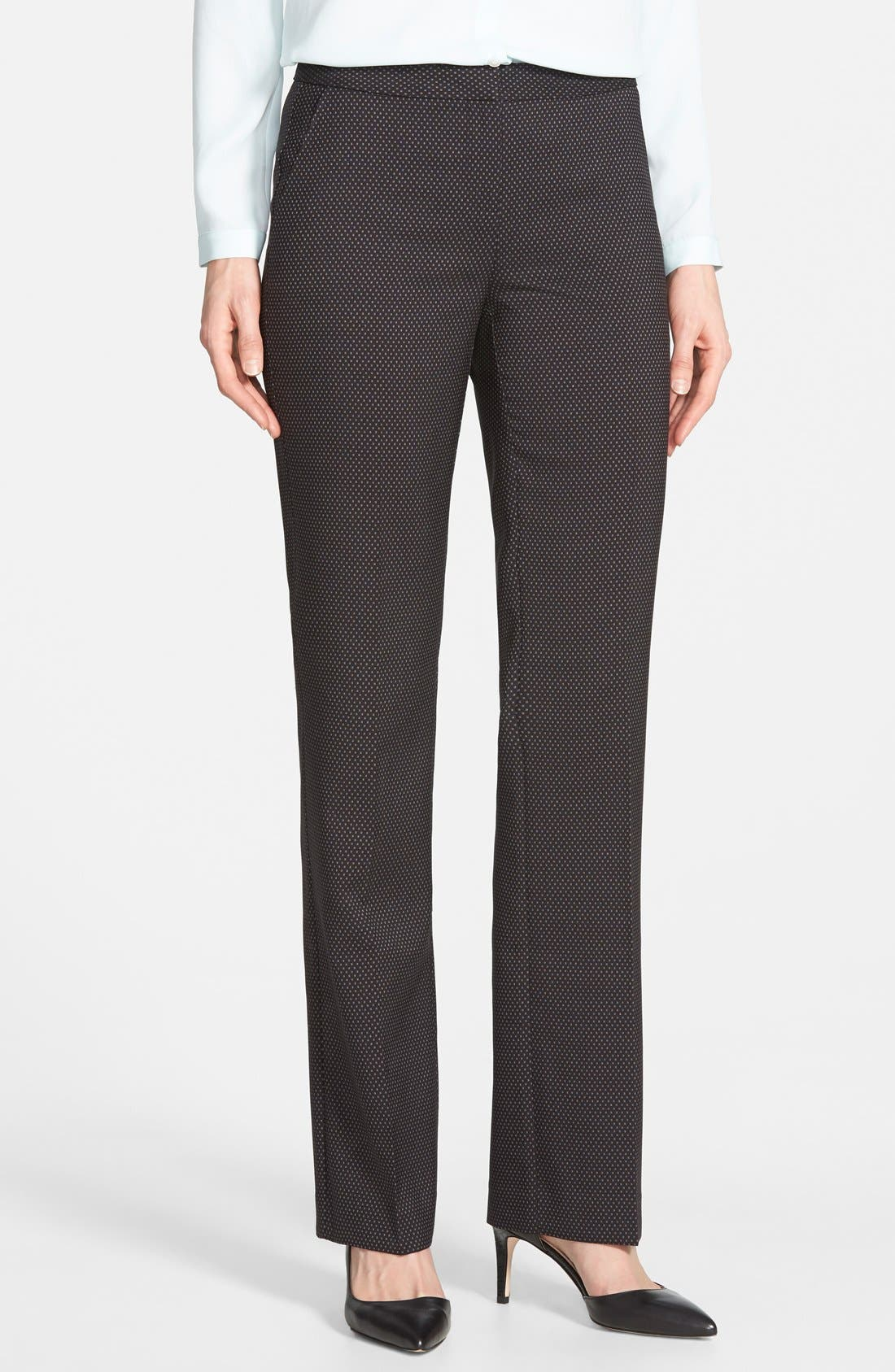 Alternate Image 1 Selected - Halogen® 'Taylor' Darling Dot Suit Pants (Regular & Petite)