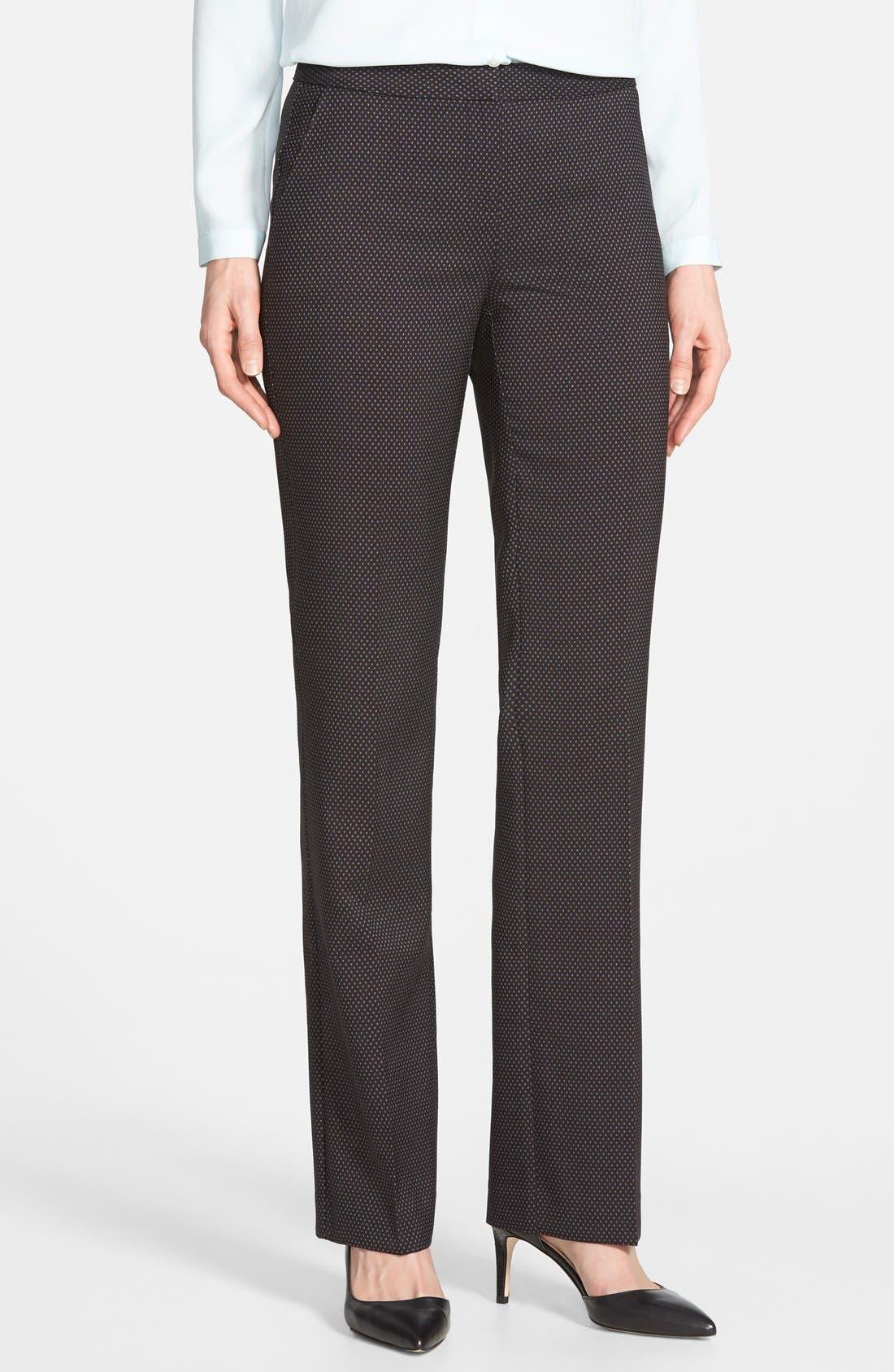 Main Image - Halogen® 'Taylor' Darling Dot Suit Pants (Regular & Petite)