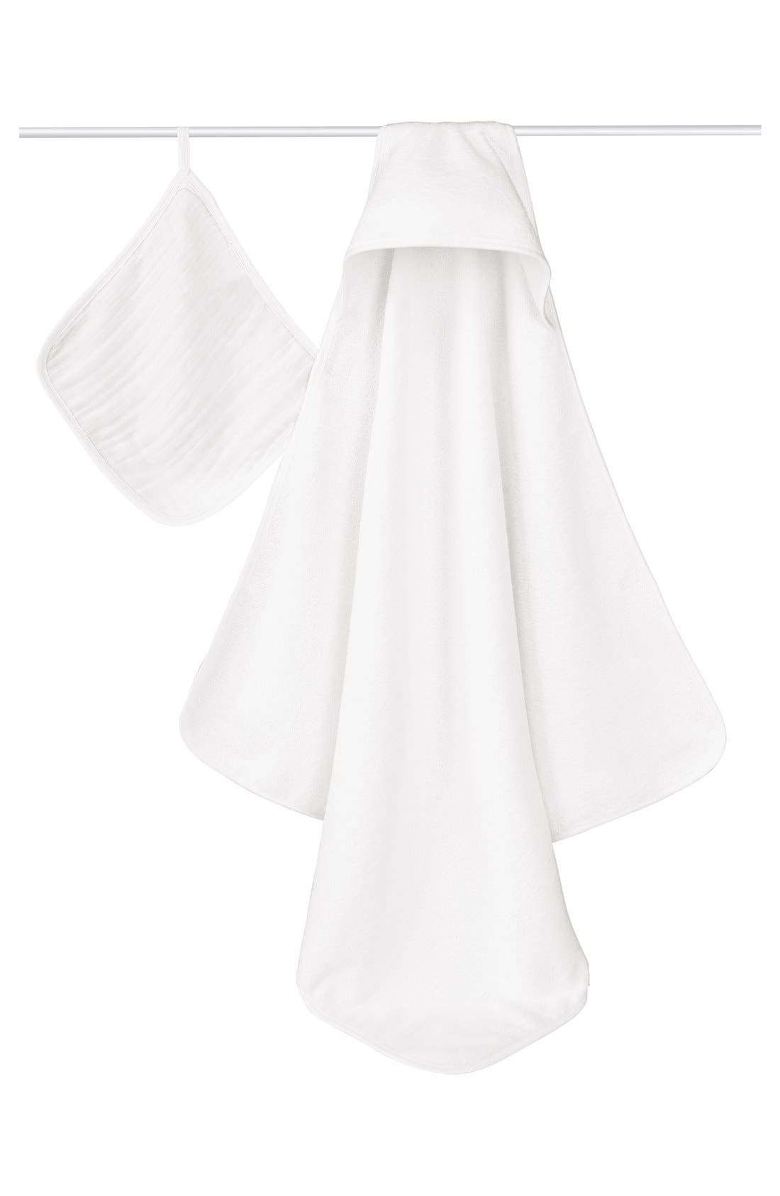Alternate Image 1 Selected - aden + anais Classic Hooded Towel Set