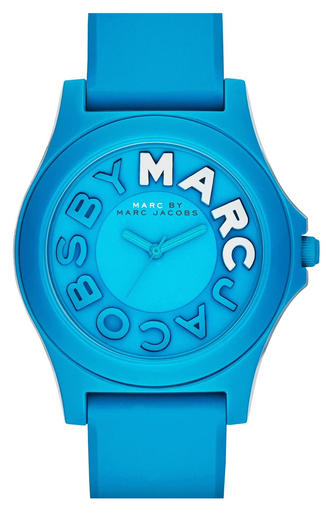 Alternate Image 1 Selected - MARC JACOBS 'Sloane' Silicone Strap Watch, 40mm