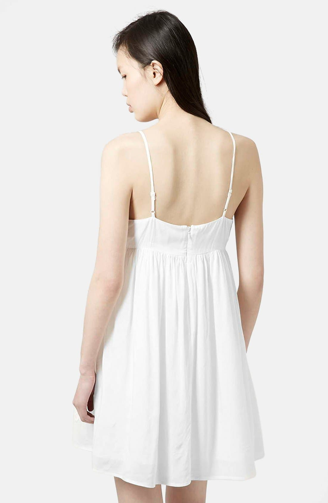 Alternate Image 3  - Topshop Strappy Appliqué Babydoll Dress