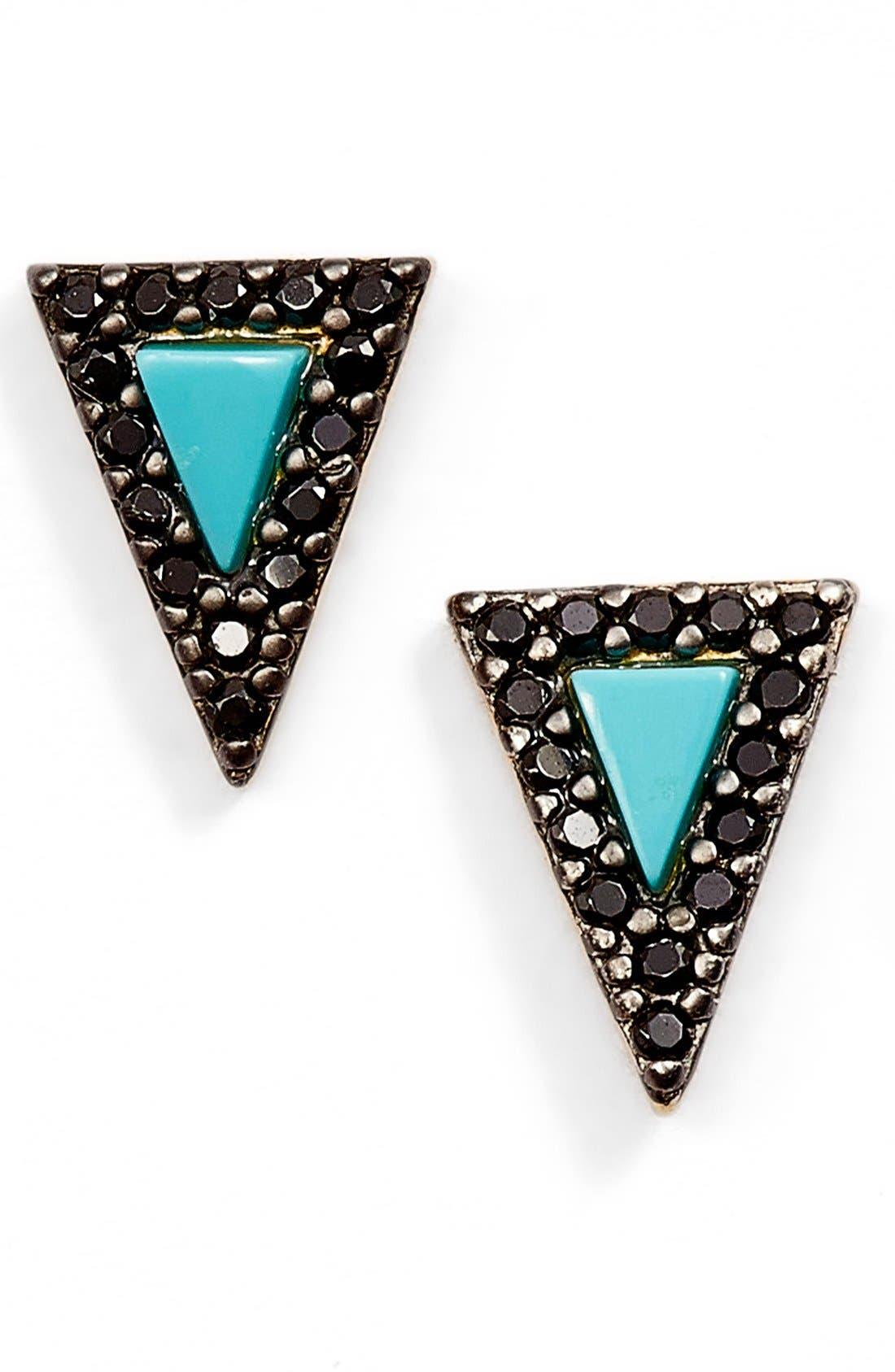 Alternate Image 1 Selected - FREIDA ROTHMAN 'Metropolitan' Triangle Stud Earrings (Online Only)
