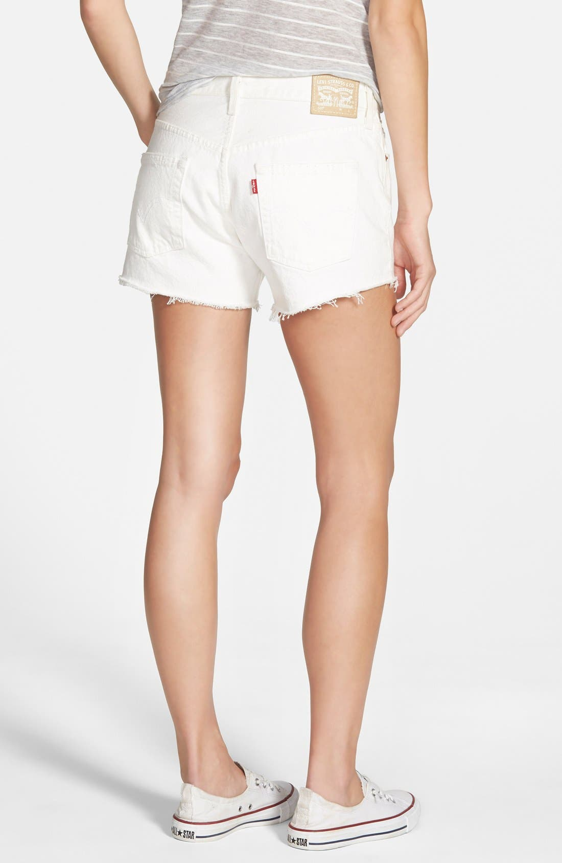 Alternate Image 2  - Levi's® '501®' Denim Cutoff Shorts (Vintage White)