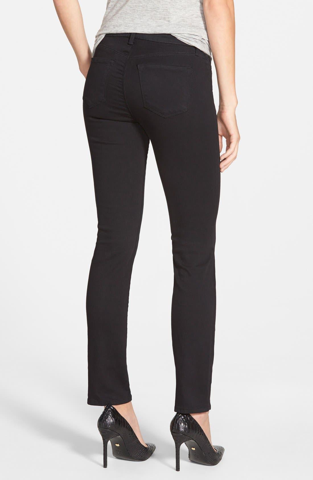 Alternate Image 2  - J Brand '811' Mid Rise Skinny Jeans (Black) (Nordstrom Exclusive)
