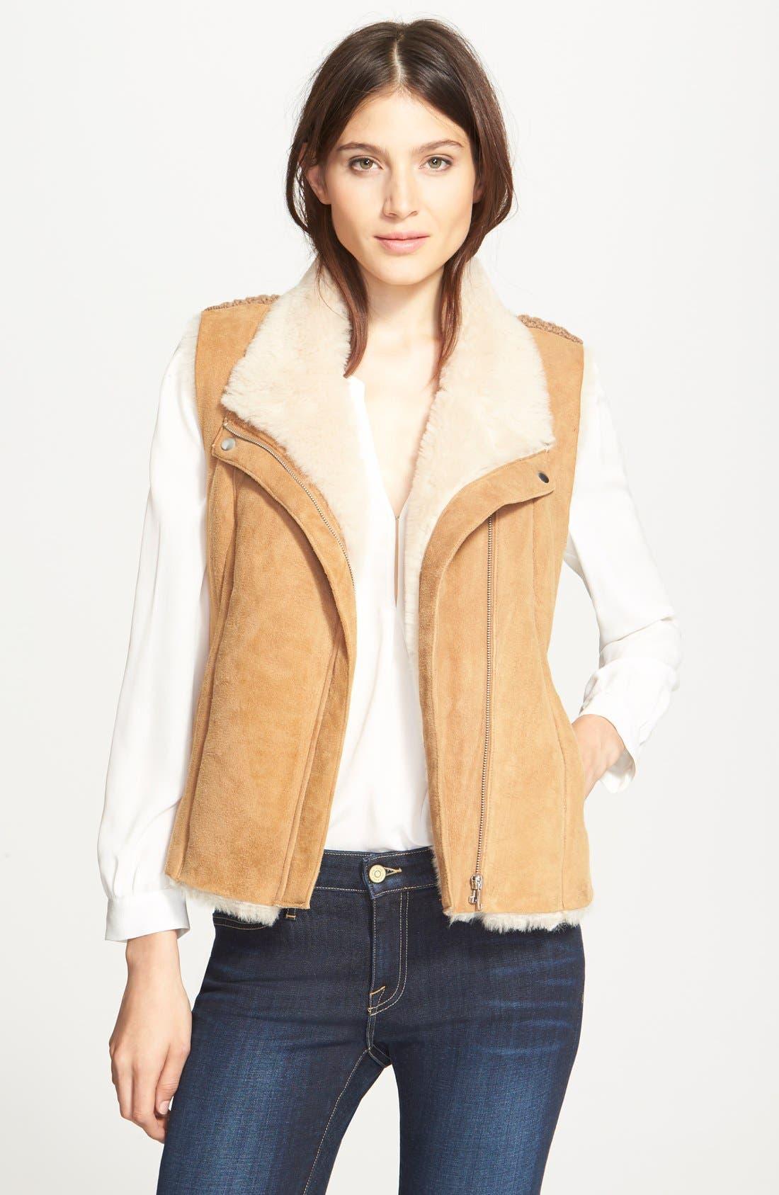 Main Image - Joie 'Brinley' Genuine Shearling & Merino Wool Vest