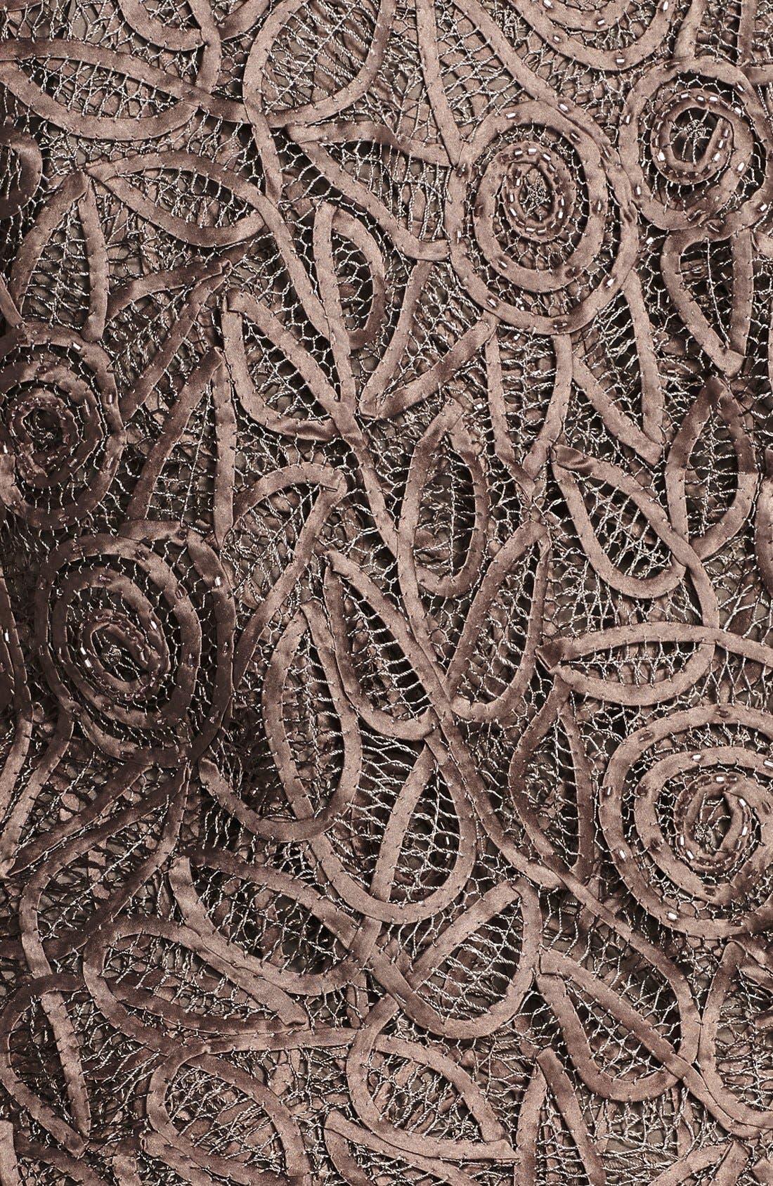 Alternate Image 3  - Soulmates 3-Piece Silk Crochet Skirt Set (Plus)