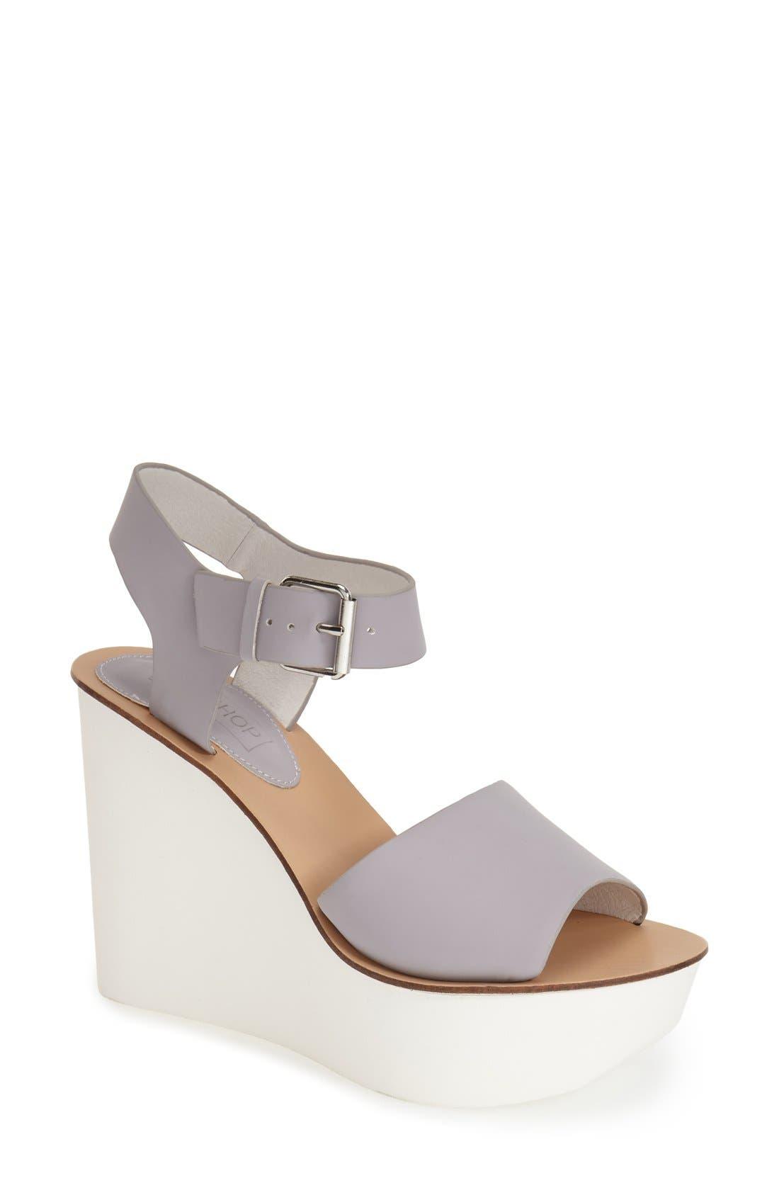 Main Image - Topshop 'Wedding' Wedge Sandal (Women)
