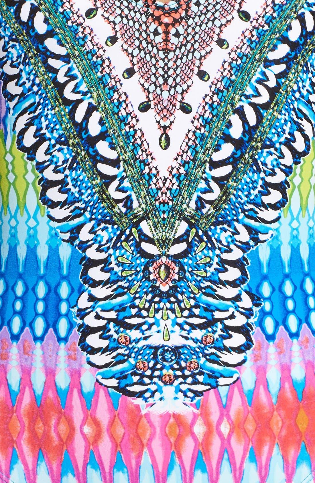 Alternate Image 3  - La Blanca 'Rainbow' One-Piece Halter Swimsuit