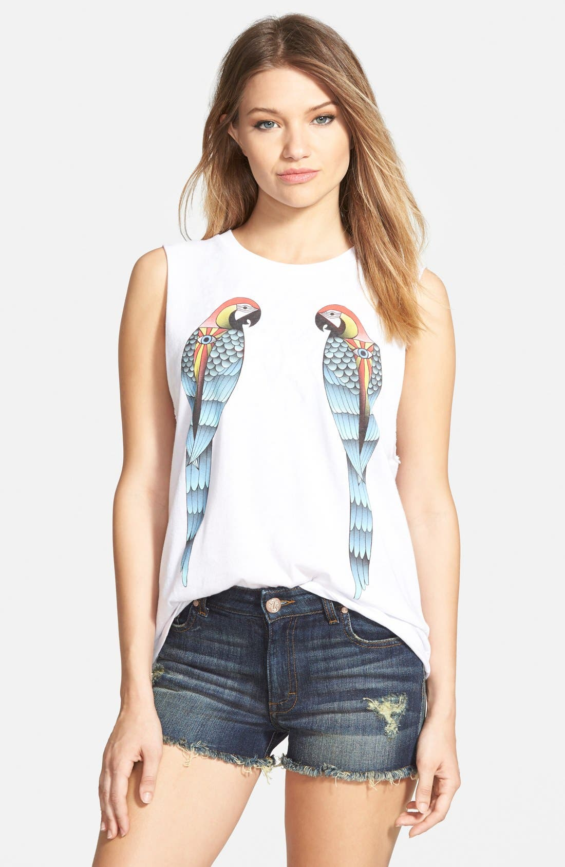 Alternate Image 1 Selected - Billabong 'Nautical Parrots' Graphic Muscle Tee