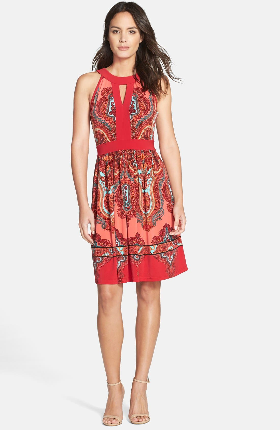 Alternate Image 3  - Adrianna Papell Paisley Fit & Flare Dress