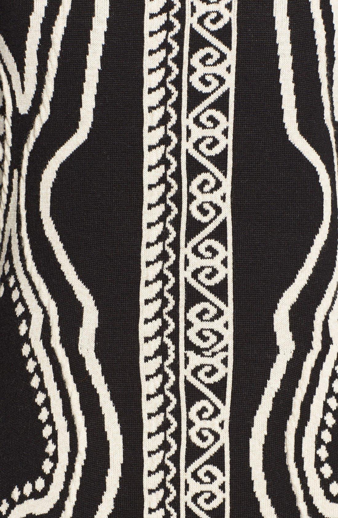 Alternate Image 3  - Etro Paisley Intarsia Knit Long Sleeve Dress