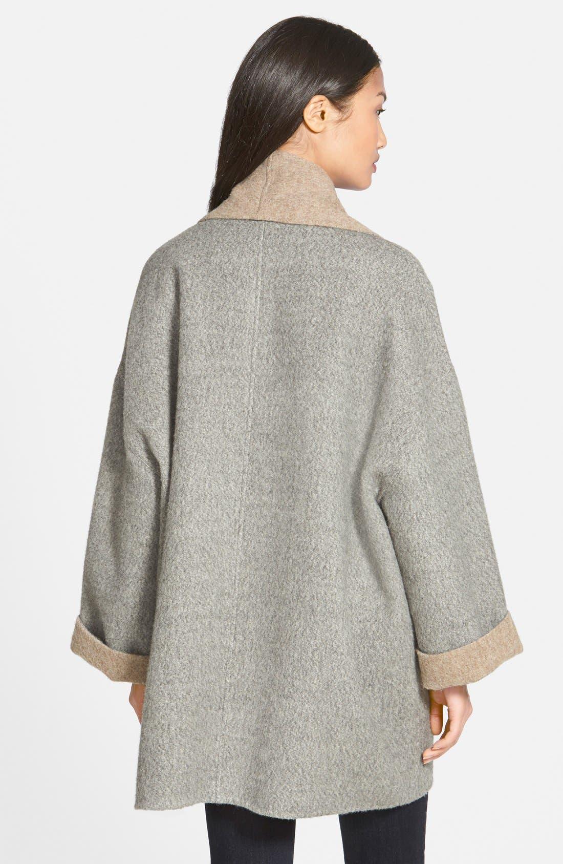 Alternate Image 2  - Eileen Fisher Shawl Collar Alpaca Blend Kimono Coat (Regular & Petite)