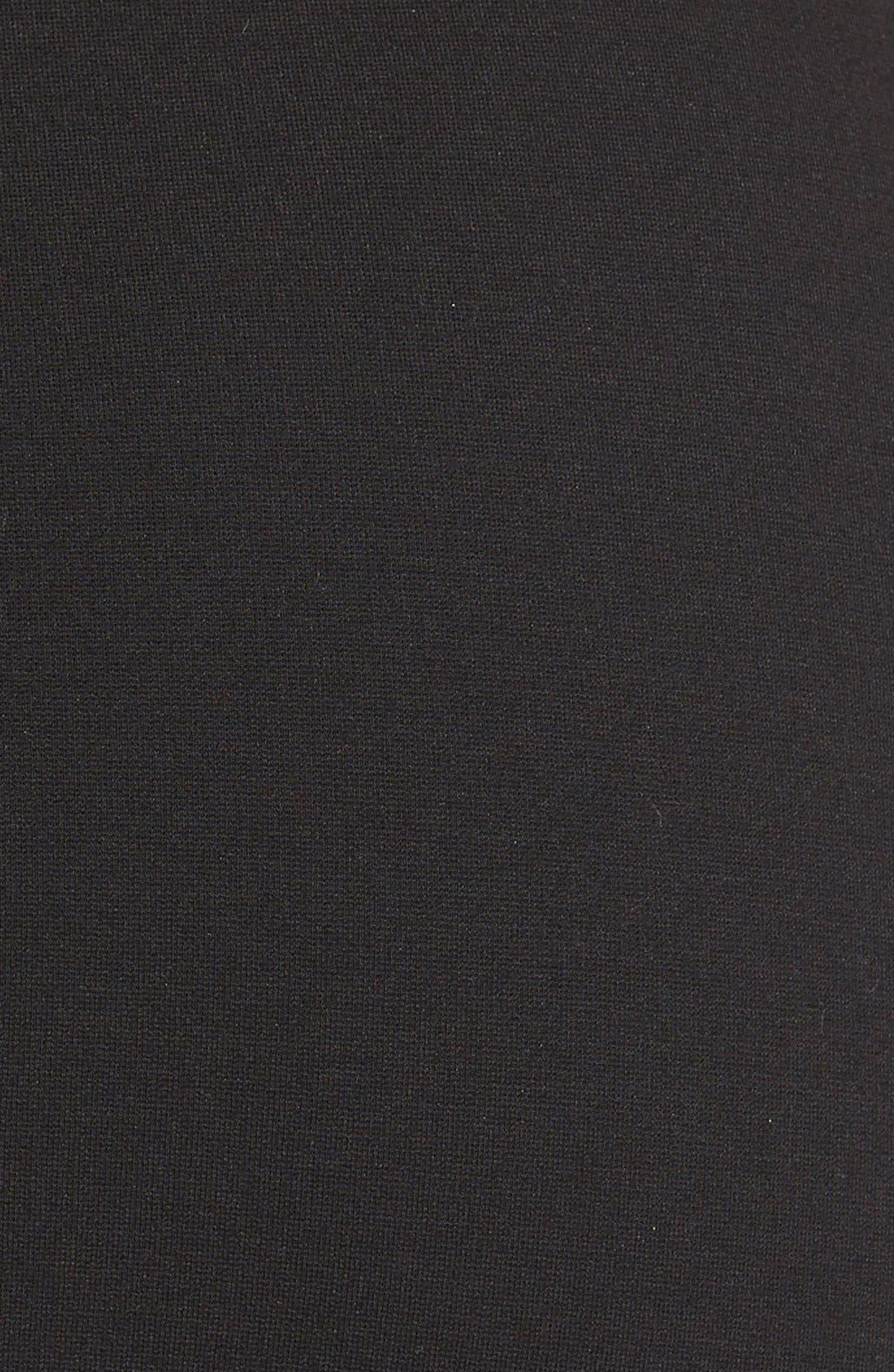 Alternate Image 3  - Lafayette 148 New York Faux Leather Trim Punto Milano Long Pencil Skirt