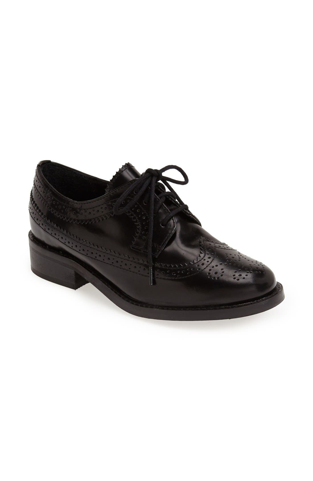 Alternate Image 1 Selected - Topshop 'Katie' Lace Up Brogue Oxford (Women)