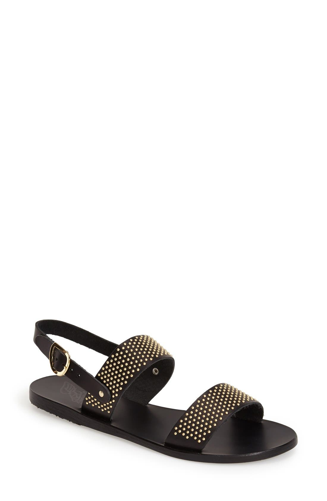 Alternate Image 1 Selected - Ancient Greek Sandals 'Dinami' Studded Double Band Sandal (Women)