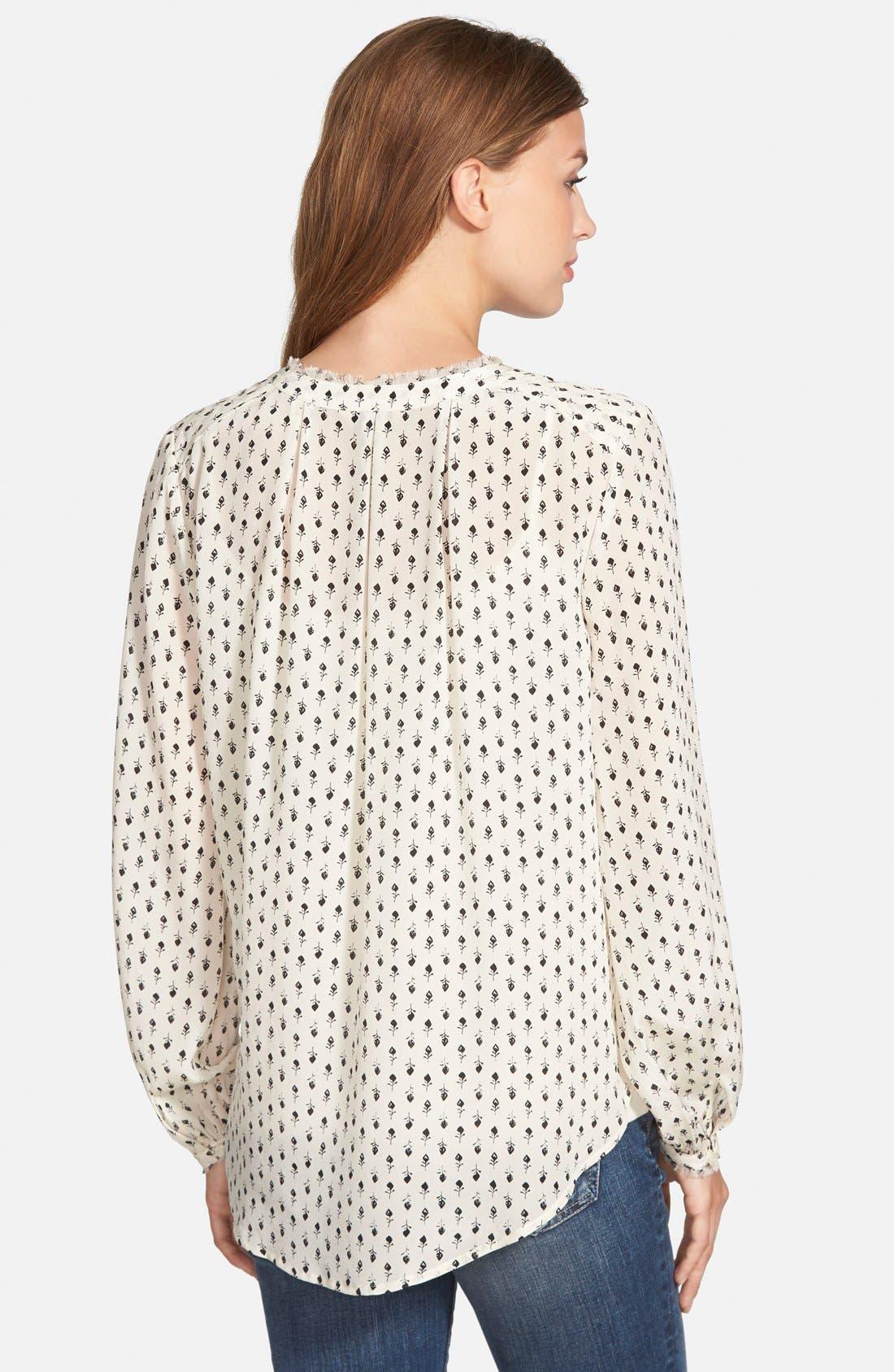 Alternate Image 3  - Lucky Brand 'Woodstamp' Print Silk Shirt