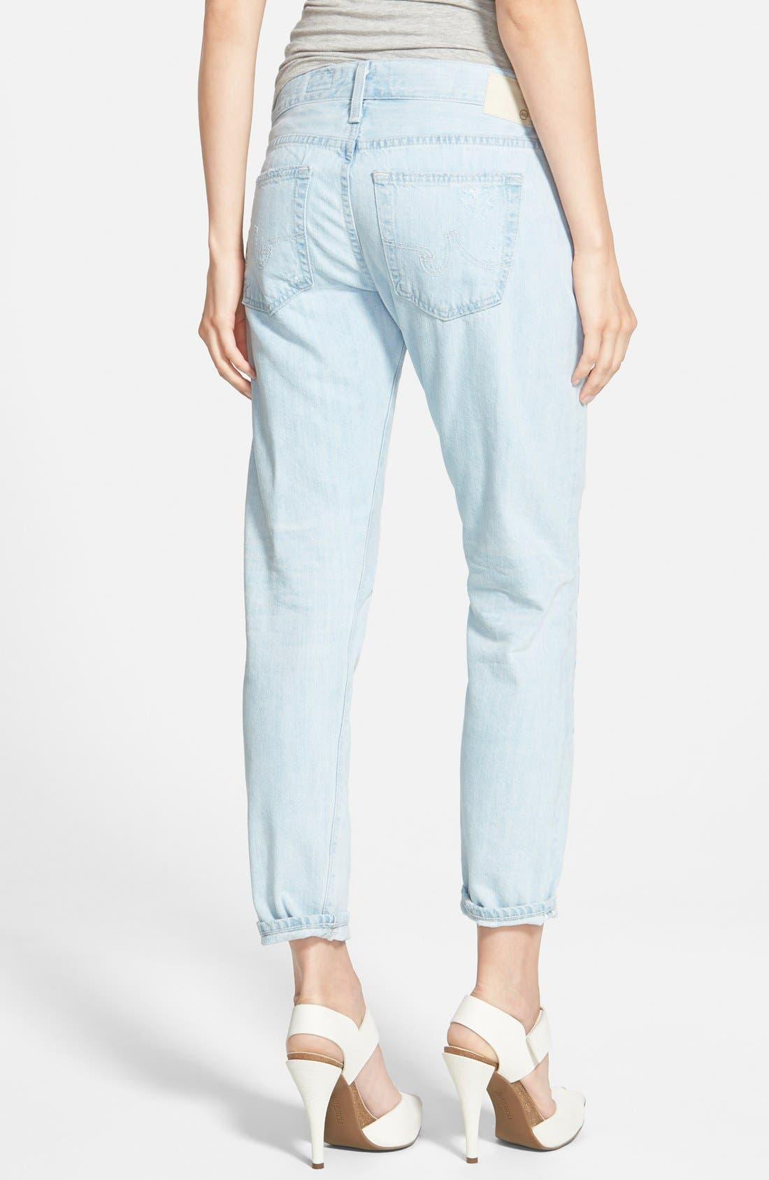 Alternate Image 2  - AG 'Nikki' Relaxed Skinny Crop Jeans (28 Years Shredded)